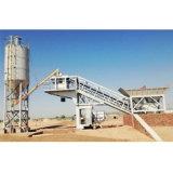 Móvil portátil planta de procesamiento por lotes de mezcladoras de hormigón Yhzs50 para la venta