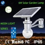 6W iluminación solar de la pared del jardín LED con teledirigido
