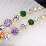 Insieme nuziale della collana dell'orecchino della lega di cerimonia nuziale delle signore multicolori dei monili