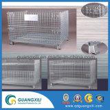 Los depósitos de contenedores de malla de alambre galvanizado Caja de metal