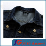 Rivestimento lungo del denim di svago del manicotto del cotone degli uomini (JC7050)