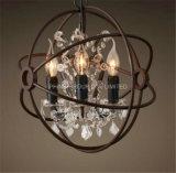 Phine dekorative Metallkugel-Form-hängende Lampen-Innenbeleuchtung mit Kristall