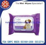 Cane che pulisce i Wipes bagnati di caduta dei capelli di cane dei Wipes dell'animale domestico