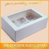 Elegante caja de cartón de regalo con ventana para la joyería