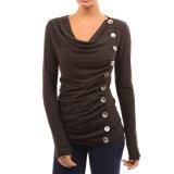L'alta qualità ispessisce le magliette lunghe delle donne dei manicotti di Bodycon