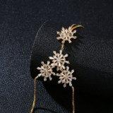 Flor de nieve personalizadas Gp Rosa CZ Bisutería Pulsera de la mano