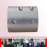 Stahl, der mit CNC-drehenmetalteilen maschinell bearbeitet