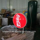 Thermoformed 표시 플라스틱 Sqaure 또는 둥근 또는 옥외 코카콜라 경찰 진공 LED 가벼운 상자를 광고하는 타원형