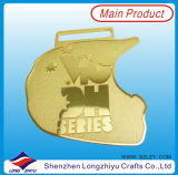 De Medaille van de Marathon van het Metaal van de douane met het Gouden Zilveren Plateren van het Brons