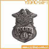 Coustom Antique Silver Police Pin Badge (YB-p-025)