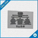 Baixa etiqueta consecutiva de transferência da impressão do silicone 3D de MOQ para o t-shirt