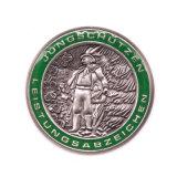 Disegno d'ottone antico di timbratura all'ingrosso dell'accumulazione del distintivo del carrello della moneta di sport