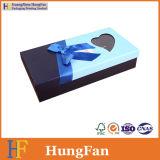 Rectángulo de regalo de papel de empaquetado del chocolate de lujo simple del caramelo