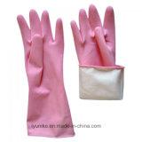 Длинные манжеты резиновые перчатки с хлопка внутри