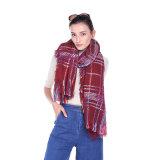 2017人の新しいデザイン女性は在庫のスカーフ/ショールを卸しで編んだ