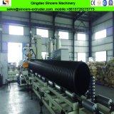 Tubo ondulato di rinforzo delle acque luride dell'HDPE della fascia d'acciaio che fa macchina