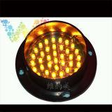 주문을 받아서 만들어진 Epistar LED 100mm 노란 번쩍이는 교통 신호 빛