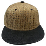 Fashion Hat with Man Made Leather Gj0002