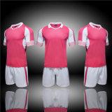 Chemises 100% ordinaires respirables de club d'OEM d'ajustement sec de Ployester de rose