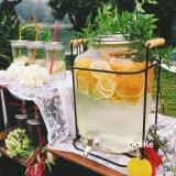 Grosses Größen-Glasglas-Glasflasche für Wein-Speicher