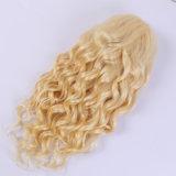 Da peruca natural brasileira cheia do cabelo do Virgin da parte dianteira do laço da onda da peruca do laço de Glueless peruca cheia loura do laço da cor #613 do cabelo melhor com cabelo do bebê