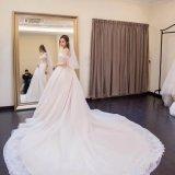 Сексуальное платье венчания оболочки -Плеча