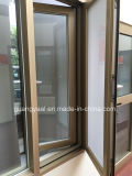 Champagne Gloden Aluminum Casement Window with Screen