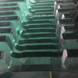 잘 중국 Water-Jet 단단하게 한 안전 문 유리에 의하여 명확한 Polished 가장자리 배기판