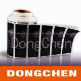 Etiqueta auto-adesiva da etiqueta do rolamento cosmético