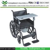 [إيس] يوافق يدويّة [كمّود] كرسيّ ذو عجلات مع دوّاسة قابل للنقل