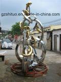 イルカの組合せ、屋外の庭の装飾の装飾的なステンレス鋼の彫刻