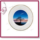 Vendita calda! 10 '' White di ceramica Plate con Golden Rims