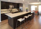 Pedra de quartzo artificial superior de cozinha