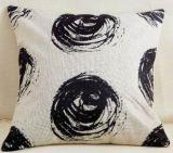 Aangegaan Modern Geometrisch Kussen voor het Leunen op Zwart-wit