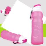 Бутылка воды спорта силикона качества еды с Carabiner
