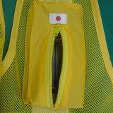 Weerspiegelende Vest van Workwear van het in het groot LEIDENE het Opvlammende Vest van de Veiligheid