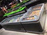 Kabinet van de Diepvriezer van het Eiland van de supermarkt het Horizontale Diepe