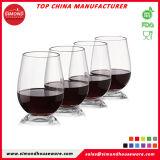 Los fabricantes de China venden al por mayor la taza plástica de los vidrios del vino blanco