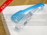 Hotel desechables baratos claro plegable el cepillo de dientes con pasta de dientes