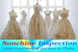 Осмотр качества платья венчания в Suzhou/обслуживании контроля перед отправкой Sunchine Осмотром Третьем лицом Осмотром Компанией
