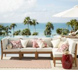 Los sistemas superventas del sofá del jardín del patio de los muebles de la teca de la alta calidad fijan