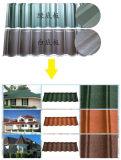Resistencia a la corrosión en la composición del metal y piedra de color teja