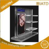Sauter vers le haut la crémaillère d'étalage cosmétique acrylique de détail de mémoire de bijou de bijou de montre