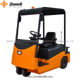 CE 6 Ton Electric Towing Tractor con la Metà-Closed Cabin, con Window e Wiper
