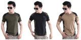 Rangers cuello redondo de combate táctico de manga corta hombres al aire libre Camisetas