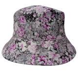 Chapéu da cubeta com tela floral (BT027)
