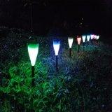 Lámpara solar decorativa de la calle LED del jardín al aire libre impermeable
