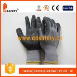 Ddsafety 2017 Nitrile recouvert de nylon gris Mini Points des gants de sécurité