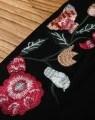 Senhoras Conjunto de Duas Peças de Seven-Sleeve vestidos bordados de tecidos de malha