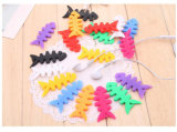 Multi-Color Fashion Silicone Fish Bone Cable Winder